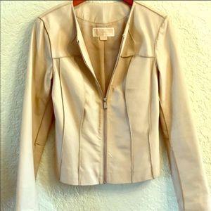 Authentic Michael Kors leather jacket, sz Small
